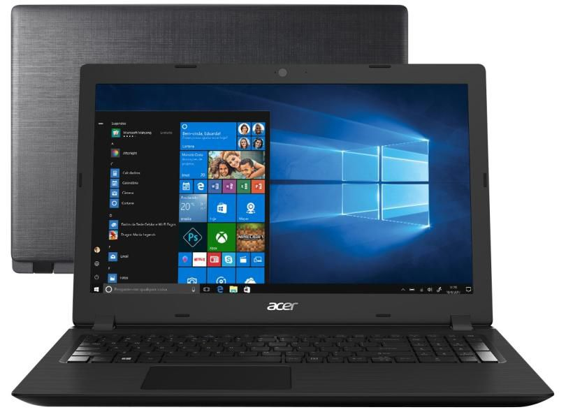 NOTEBOOK ACER ASPIRE 3 A315-53- 34Y I3 4GB 1TB SSD256 15.6'' WINDOWS 10 64BITS