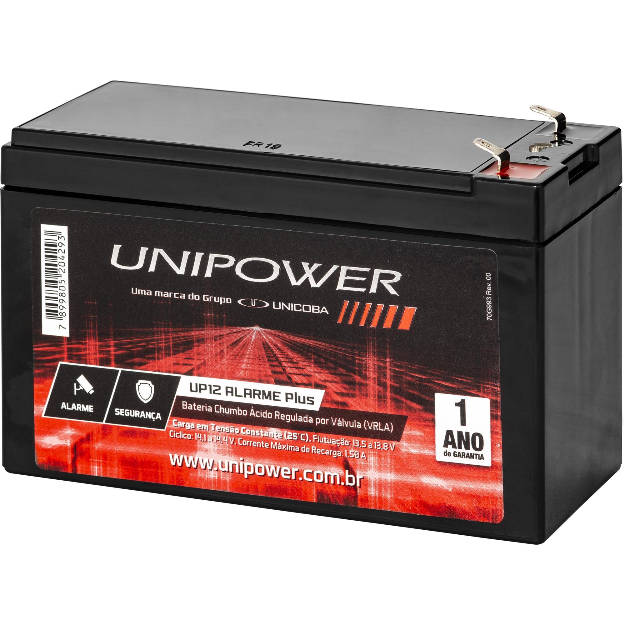 Bateria Selada 12v/4a Up12 Alarme Unipower