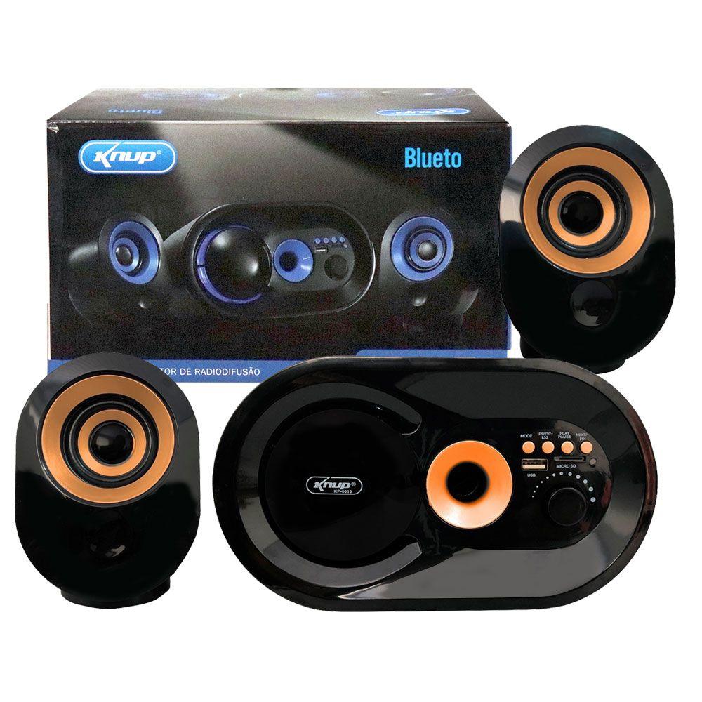 CAIXA DE SOM KNUP KP6013 USB SD FM BLUETOOTH