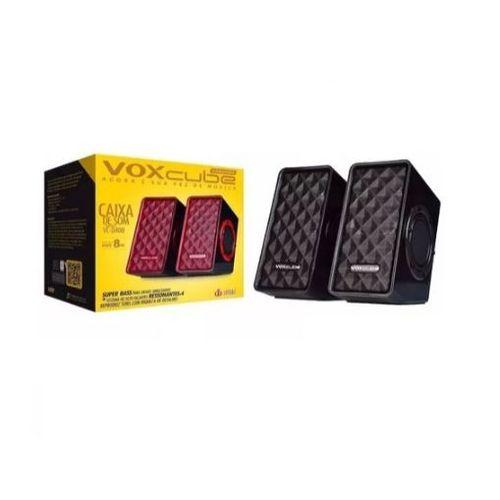 Caixa De Som Pc Super Bass Voxcube