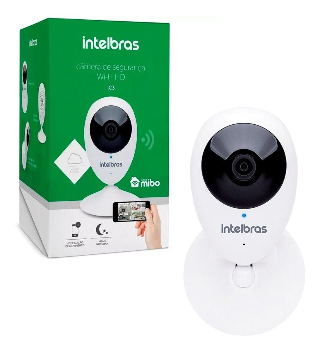 Câmera de Segurança IP Intelbras IC3 Mibo Wifi