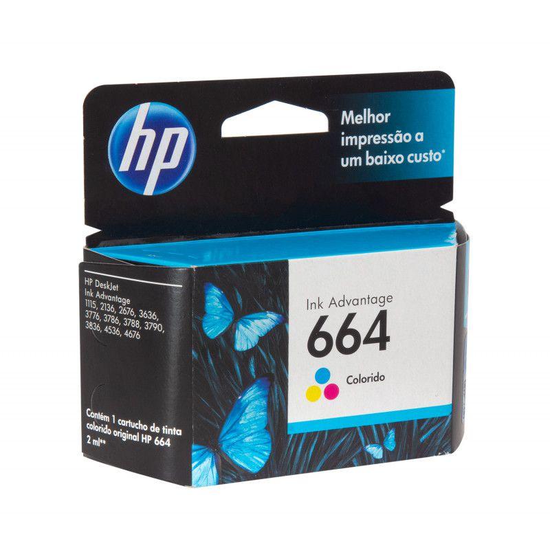 Cartucho colorido HP 664