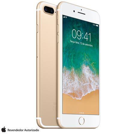 Celular Aplle iPhine 7 Plus 128GB 24MP  5.5'' dourado