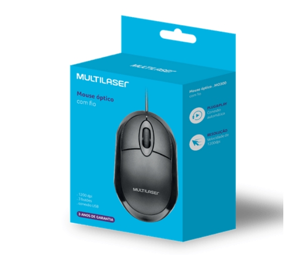 MOUSE MULTILASER MO300 USB