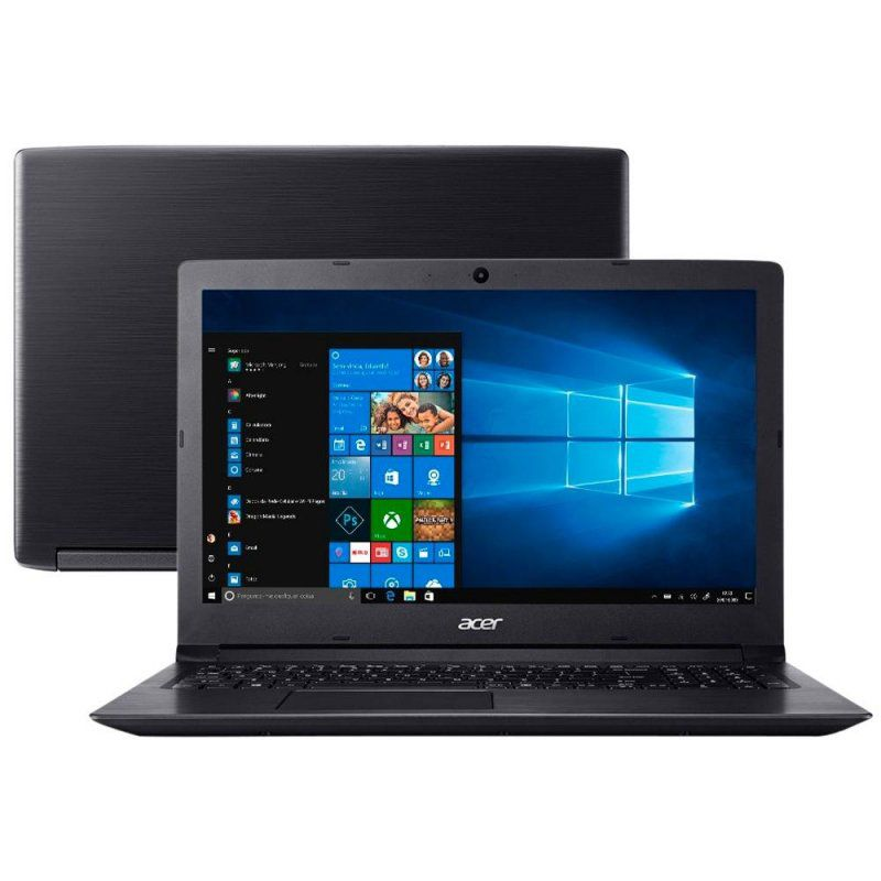 Notebook Acer Aspire 3 A315-53-C6CS. core I5 8GB HD1TB SSD256GB 15.6'' windows 10 home 64 bits