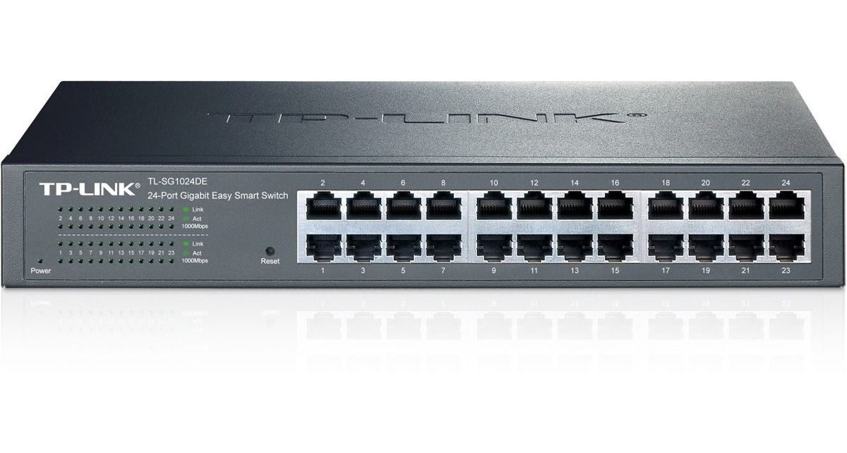 Switch Easy Smart Gigabit TL-SG1024DE de 24 Portas