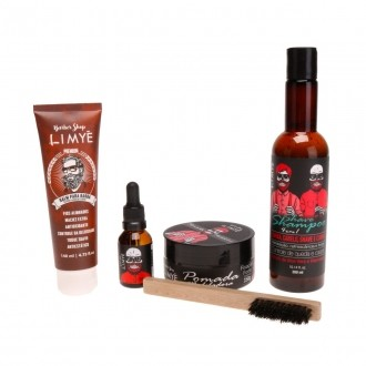 Kit Shampoo + Pomada + Óleo + Balm 140ml + Escova