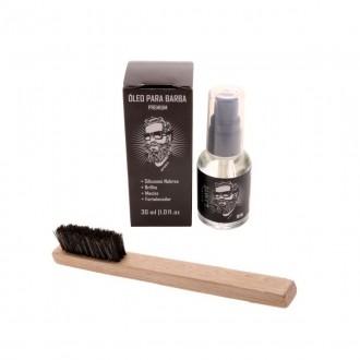 Óleo Premium + Escova para Barba