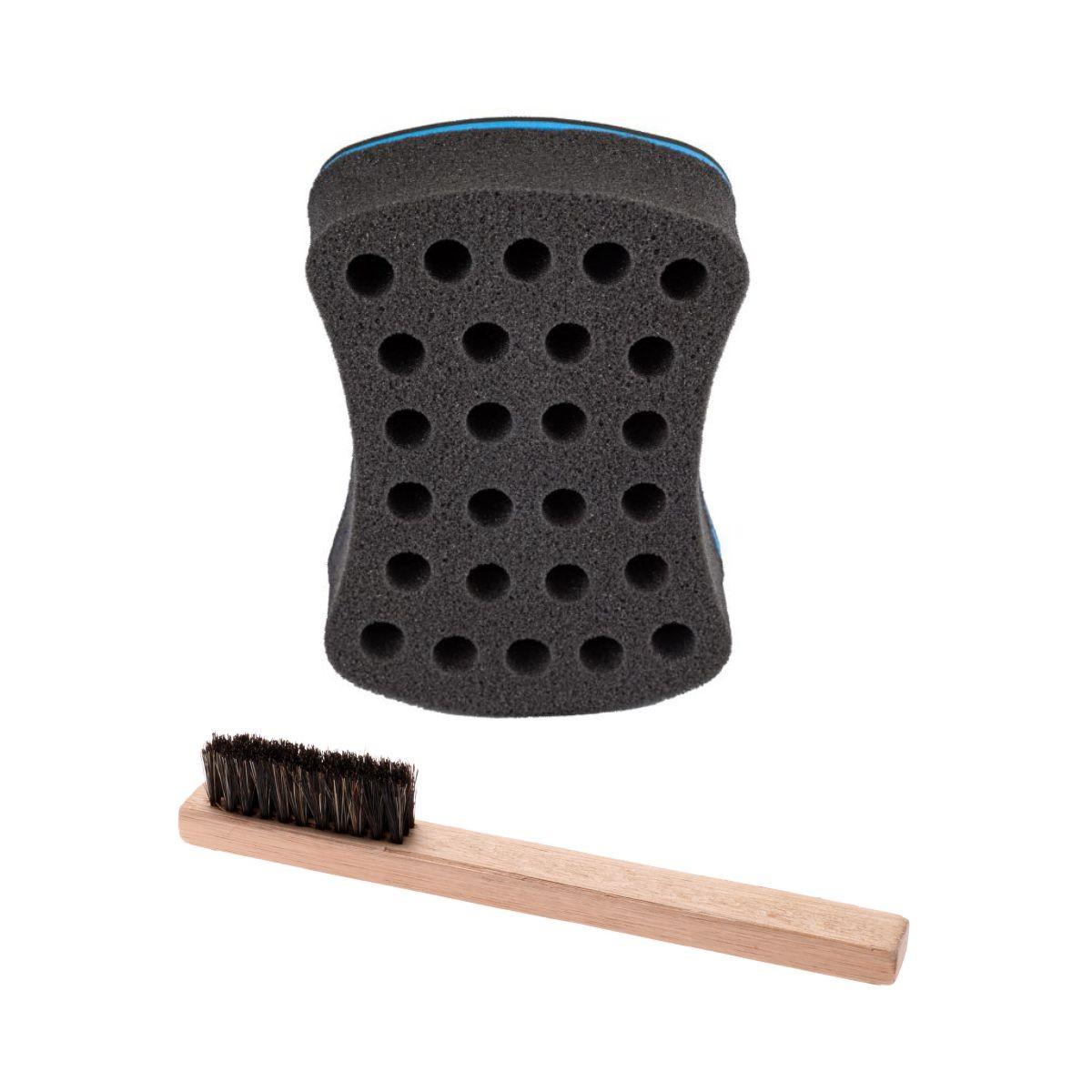 1 Nudred Esponja Afro + 1 Escova Para Barba E Bigode Limye