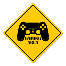 Placa Decorativa Gaming Area PS4