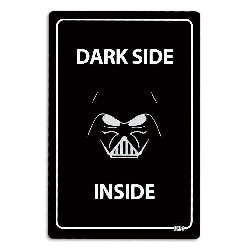 Placa Decorativa Dark Side Inside