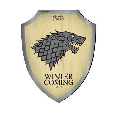 Placa Decorativa Escudo Stark