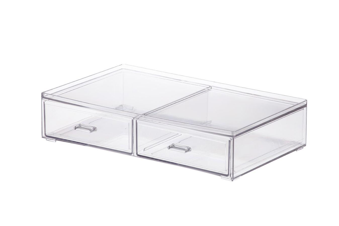 Caixa Organizadora com 2 Gavetas 31,5x18,5x7cm 1093 - ELEGANCE