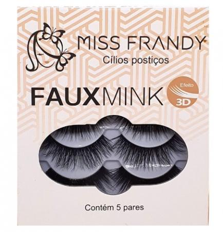 Cartela de Cílios Postiços 3D C18-3D1008 5 Pares - Miss Frandy