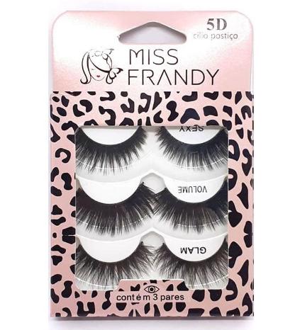 Cartela de Cílios Postiços 5D C19-0610 - Miss Frandy