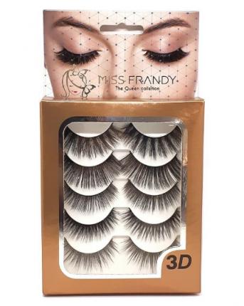 Cartela de Cílios C19-0341 5 Pares - Miss Frandy
