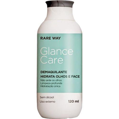 Demaquilante Hidratante Olhos e Face Glance Care 120 ml - Rare Way