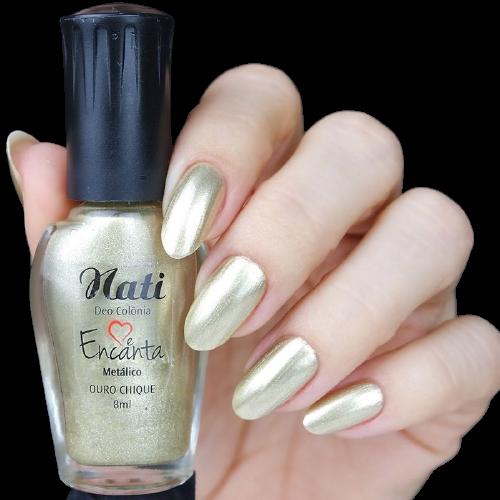Esmalte Metálico Ouro Chique - Nati