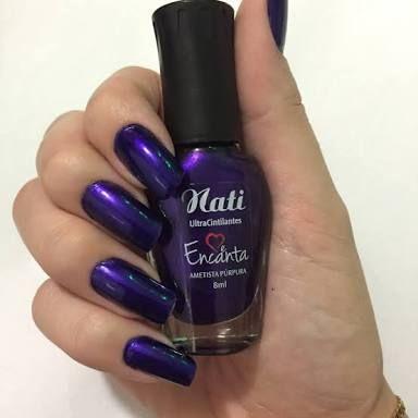 Esmalte Ultra Cintilante Ametista Púrpura  - Nati