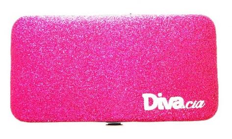 Estojo Magnético Pink com Glitter para Guardar até 6 Pinças - Diva e Cia