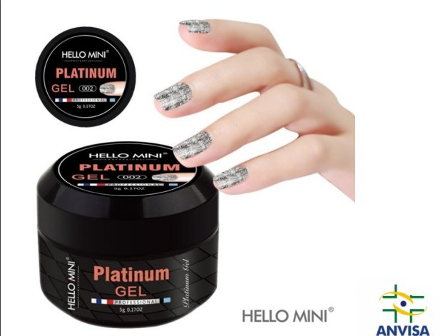 Gel com Glitter  Platinum 002 - Hello Mini