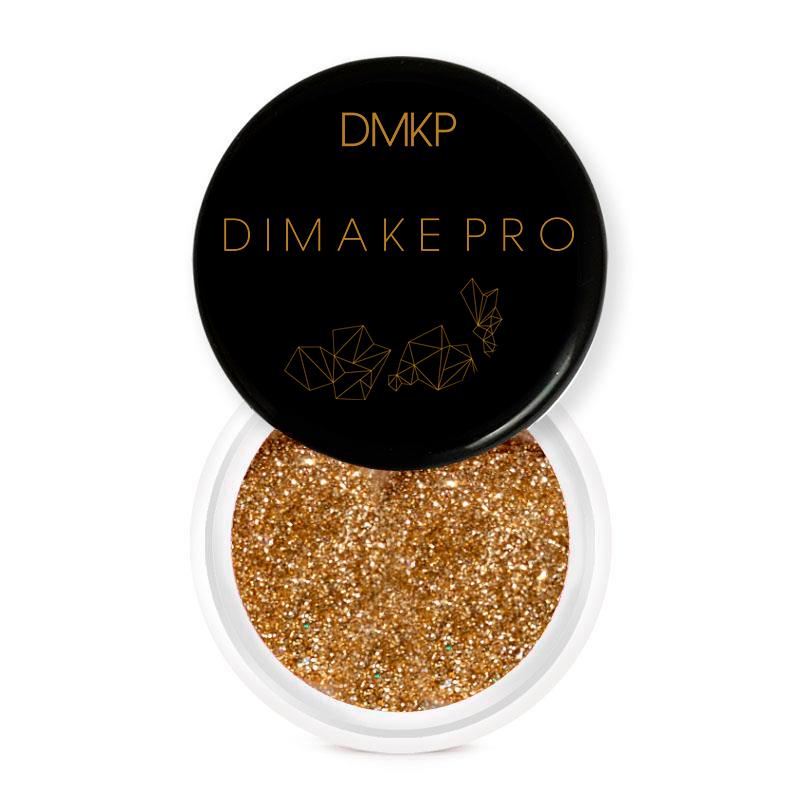 Glitter Safira Dourada - Dimake Pro