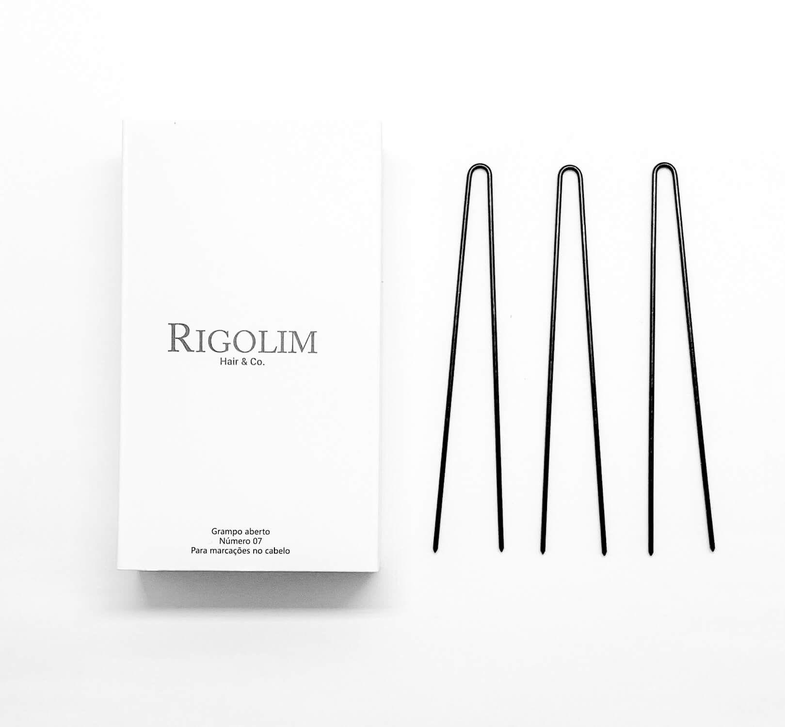 Grampo aberto número 07 caixa com 40un - Rigolim Hair & Co