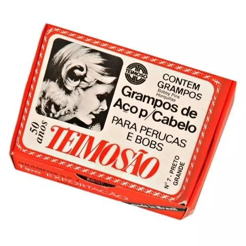 Grampo de Aço para Cabelo N° 7 Preto 50 Unidades  - Teimosão