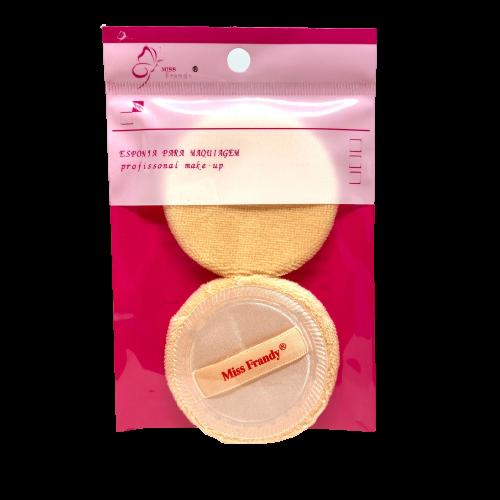 Kit 2 Esponjas Redondas Para Maquiagem - Miss Frandy