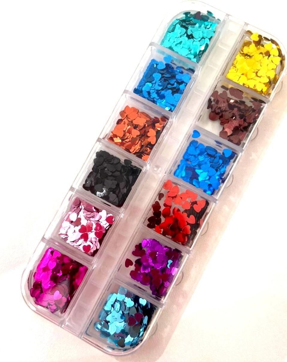 Kit Glitter de Coração para Encapsular