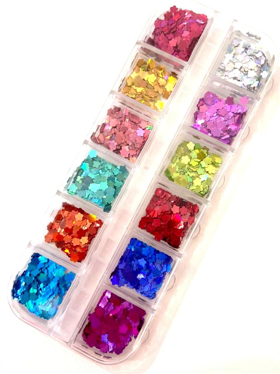 Kit Glitter de Flor Holográfica para Encapsular