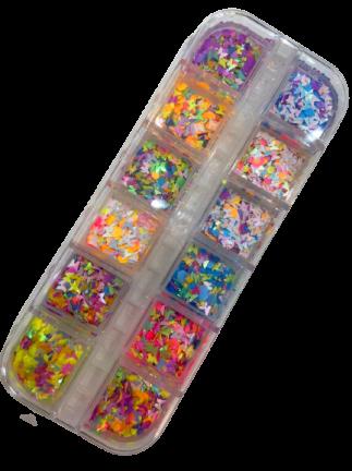 Kit Glitter Mix Borboletas para Encapsular