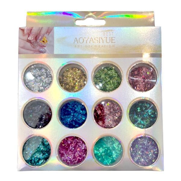 Kit Glitter Mix Holográfico 01 para Encapsular e Decorar Unhas