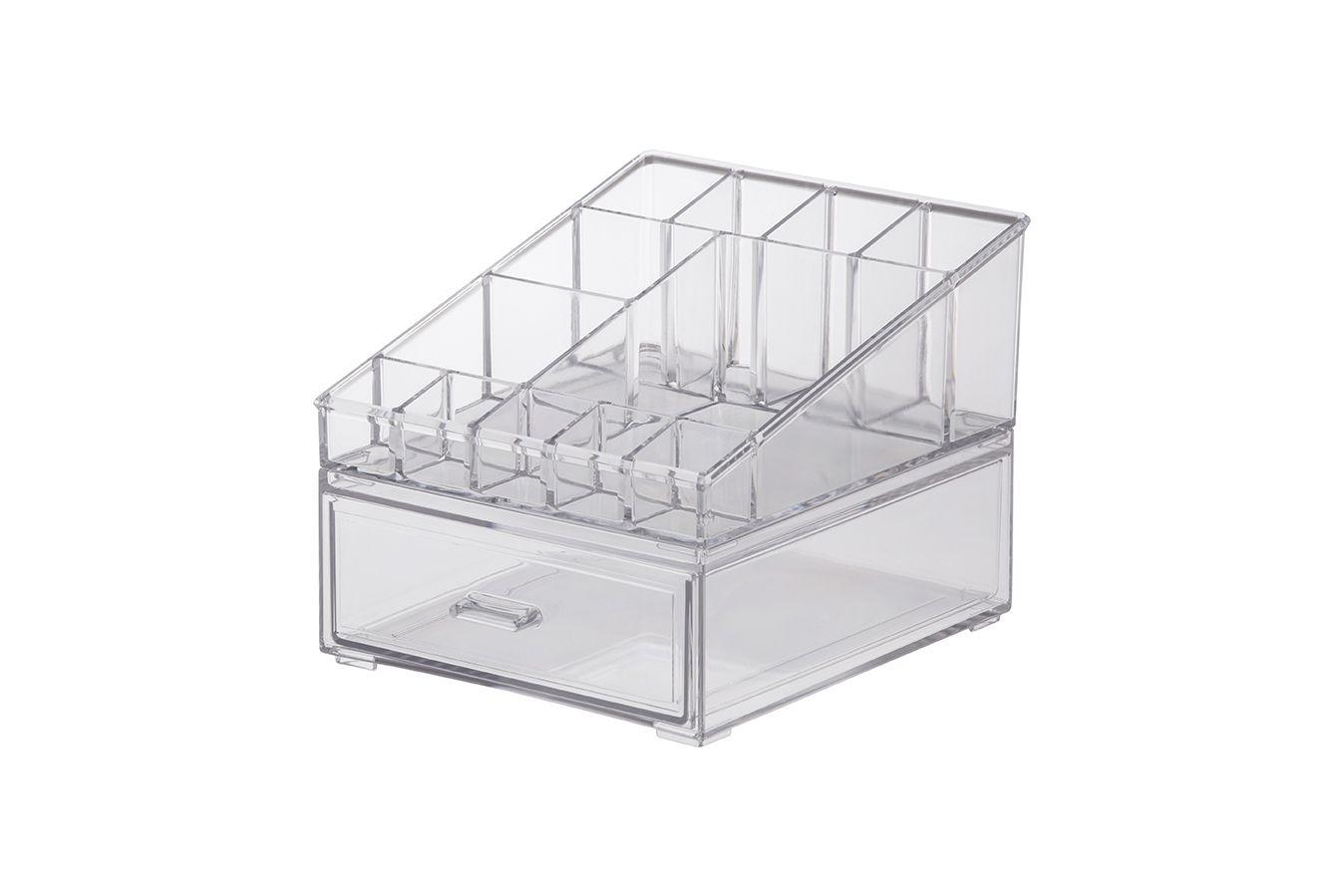Caixa Organizadora Cosméticos 18,5x16,5x14,5cm 1088 - ELEGANCE