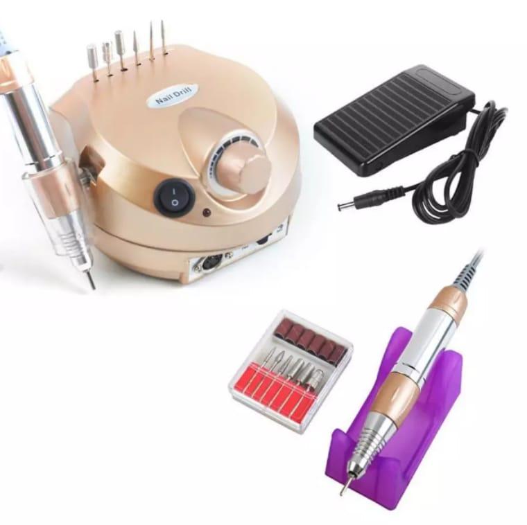 Micromotor Nail Drill 30.000RPM Bivolt Porquinho Dourado
