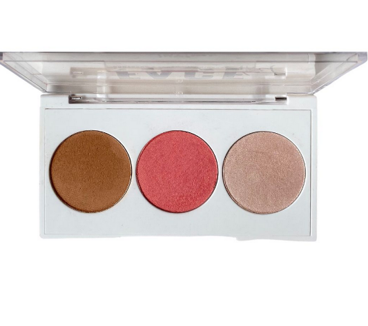 Paleta de Blush, Contorno e Iluminador Face Kit 2 - Luv Beauty