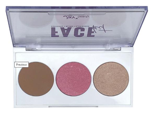 Paleta de Blush, Contorno e Iluminador Face Kit - Luv Beauty