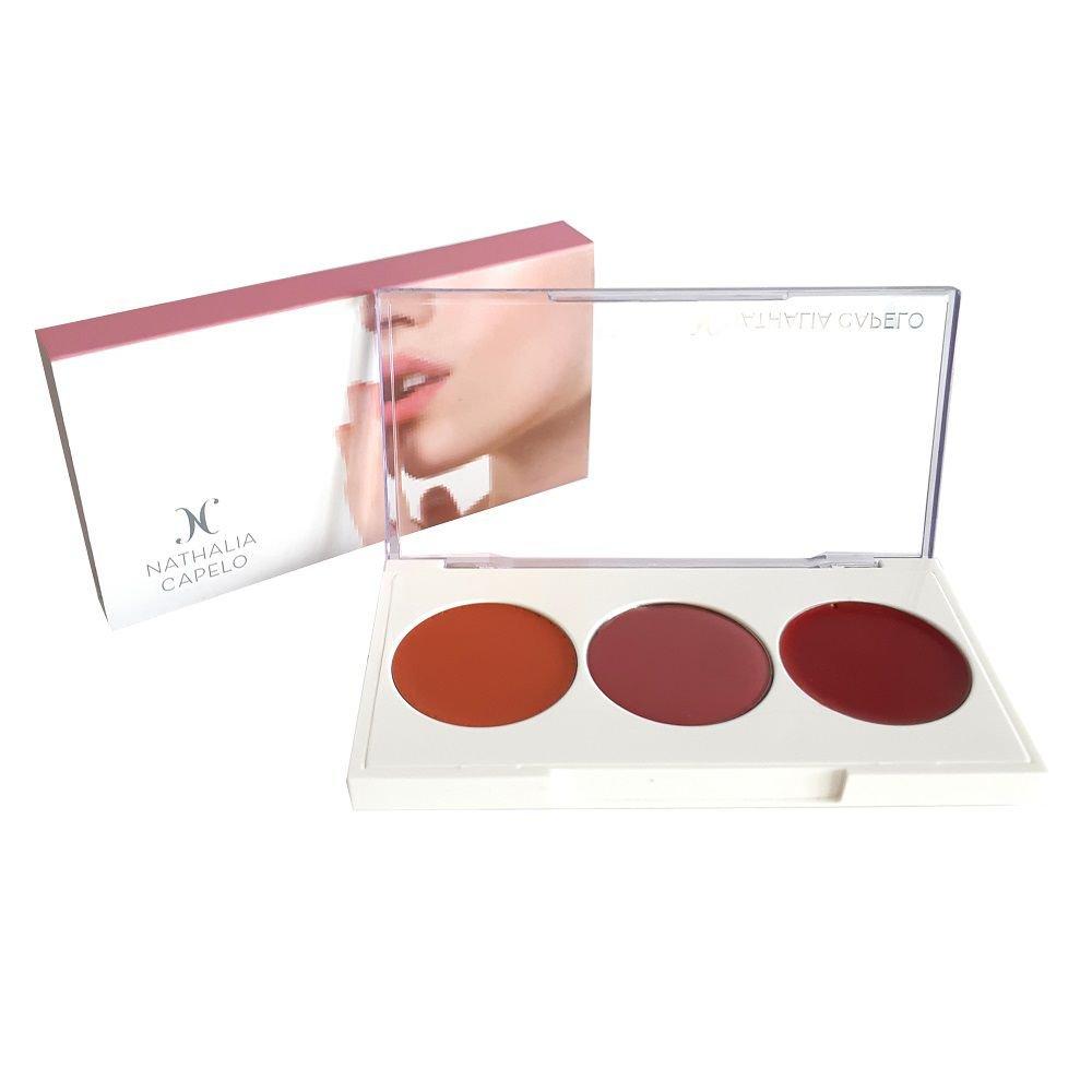Paleta de Blushes Cremosos Lip e Cheek - Nathalia Capelo
