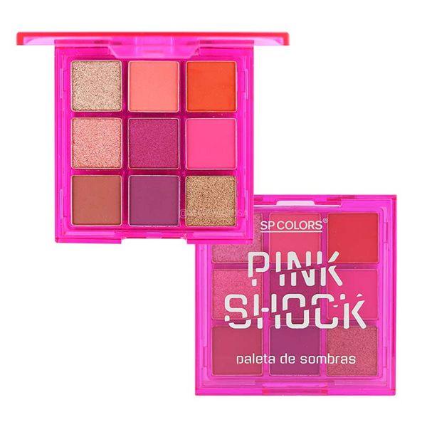 Paleta de Sombras 9 cores Pink Shock - SP COLORS