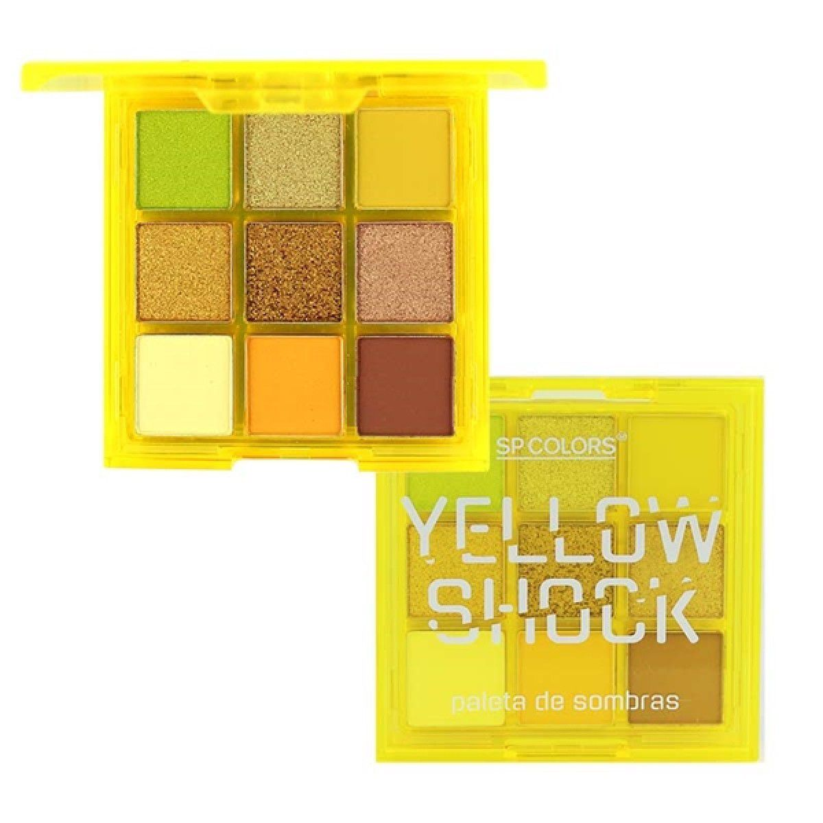 Paleta de Sombras 9 cores Yellow Shock - SP COLORS
