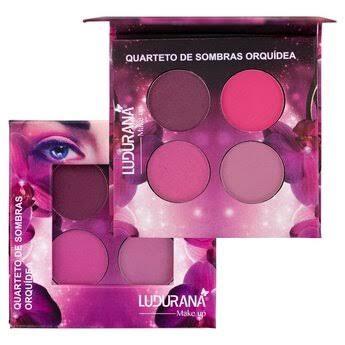 Paleta de Sombras Quarteto Orquídea - Ludurana