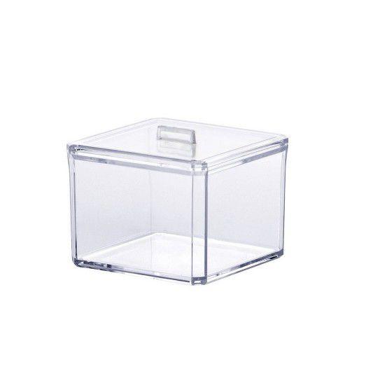 Porta Algodão Acrílico 9,5x9,5x9,5cm 1200 - ELEGANCE