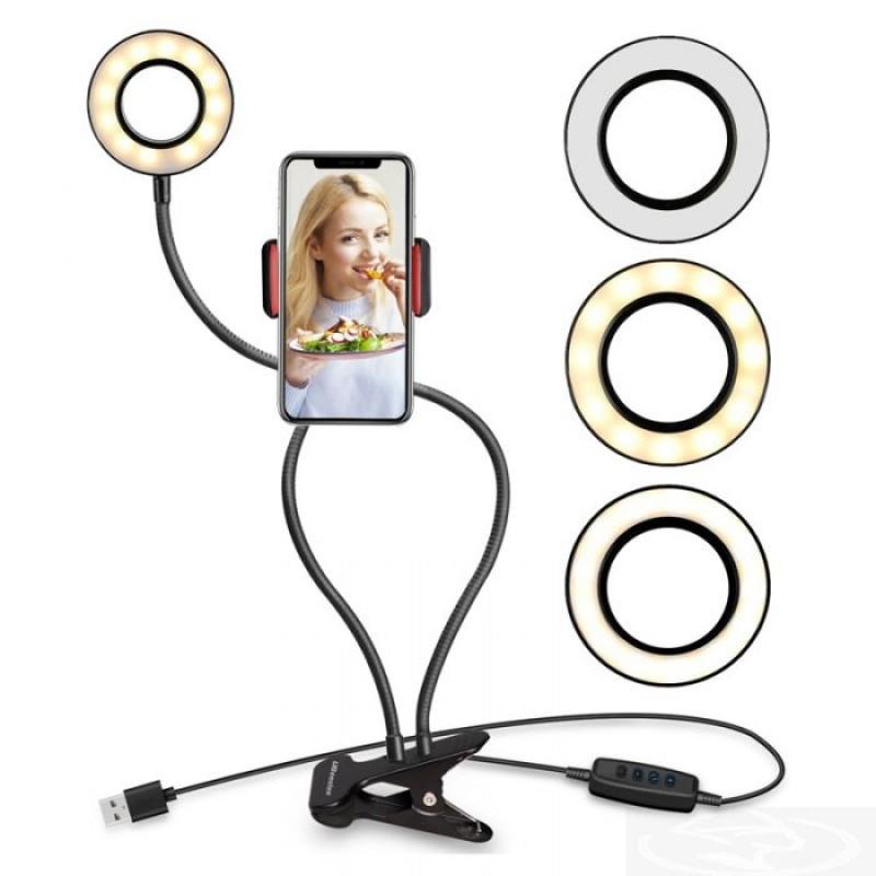 Ring Light de Mesa com Suporte para Celular