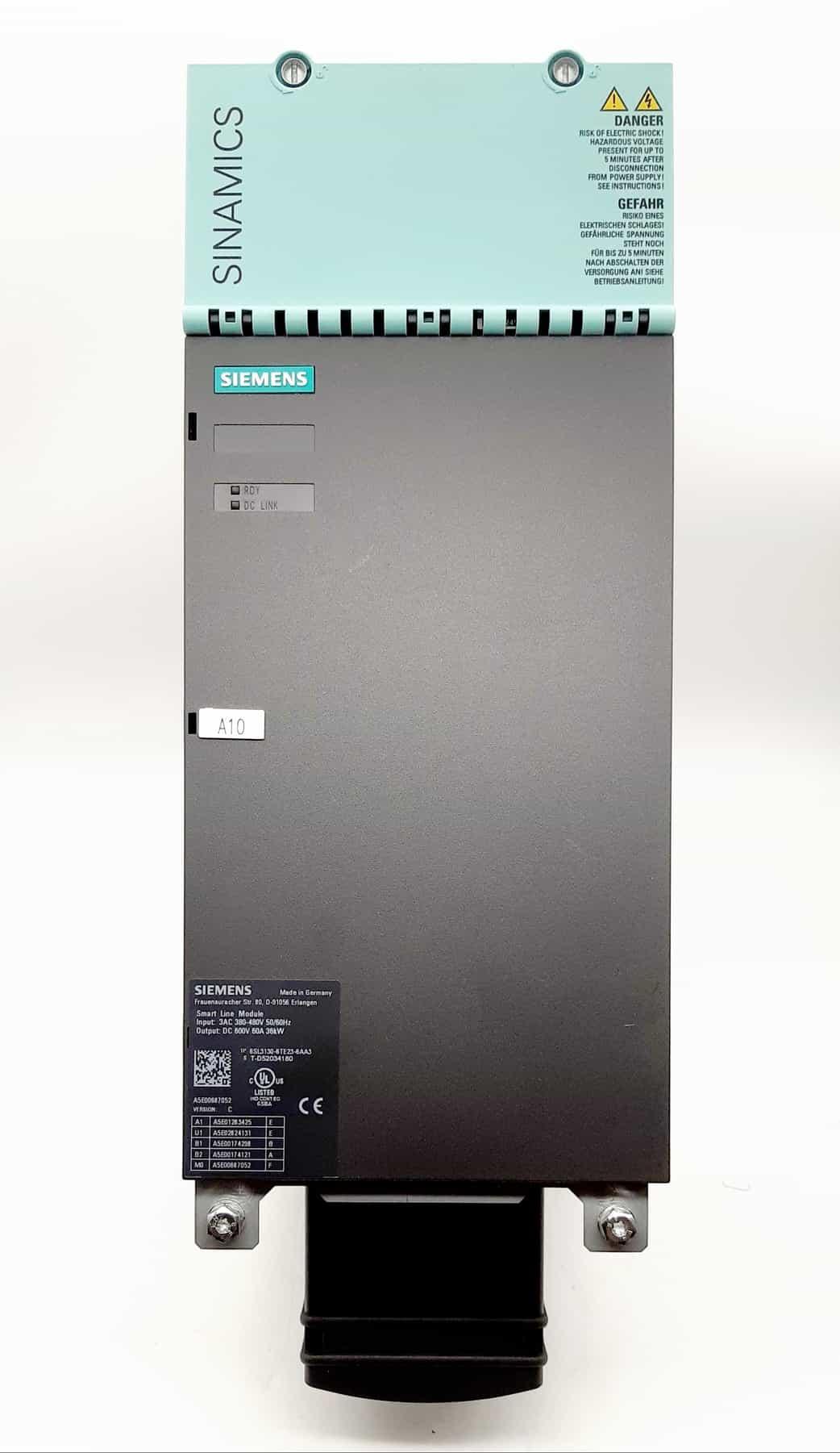 6SL3130-6TE23-6AA3 36KW - NOVA   FONTE SINAMICS SMART LINE   SIEMENS