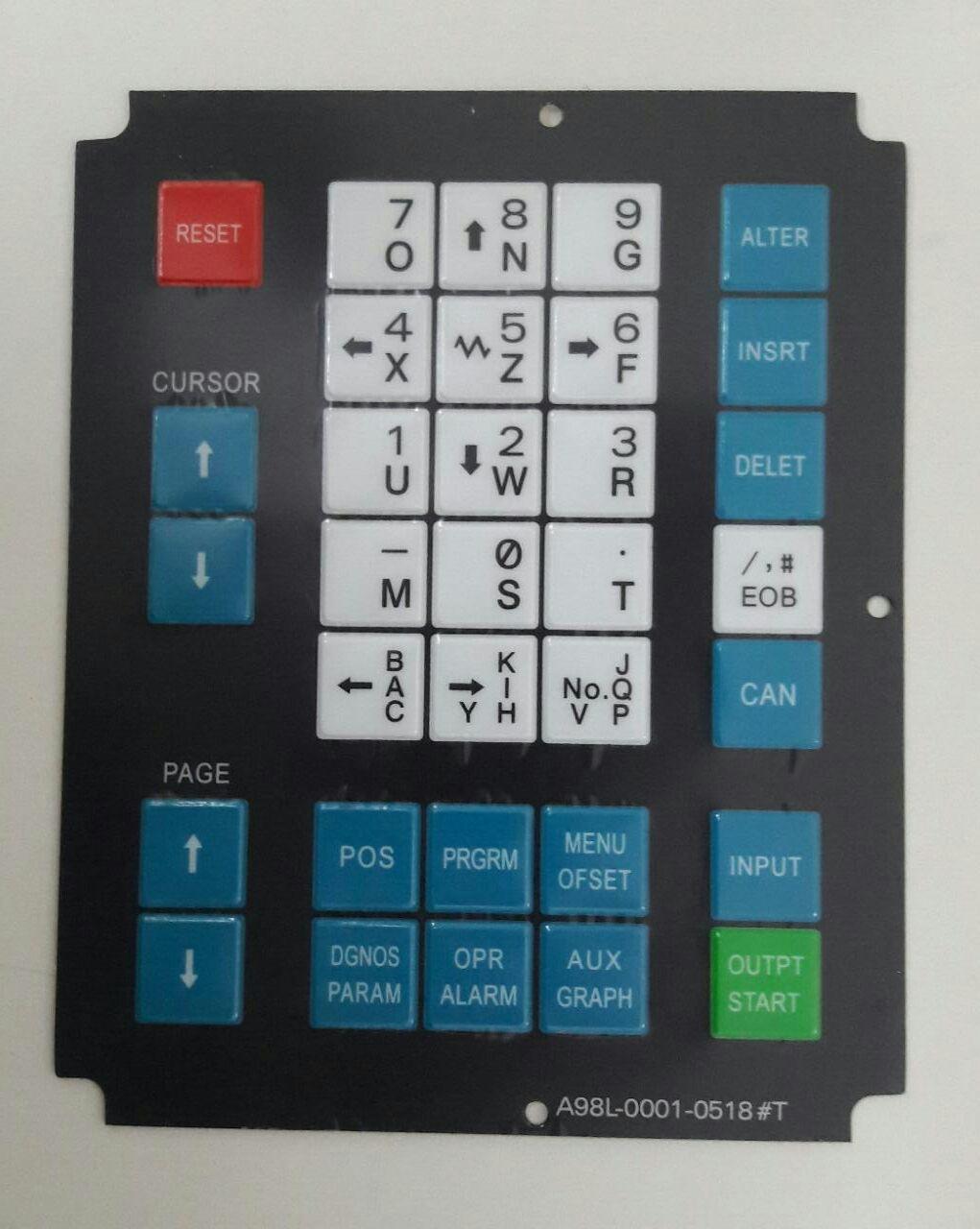 A98L-0001-0518#T|MEMBRANA TECLADO CNC|FANUC