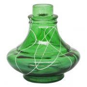 BASE ART GLASS PEQUENA ALADIN BRANCO/VERDE
