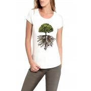 Baby Look Amazônia Árvore da Vida - Branco
