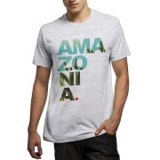 Camiseta Amazônia Ama zo ni a - Mescla Claro