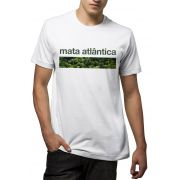 Camiseta Amazônia Bioma Mata Atlântica - Branco