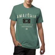 Camiseta Amazônia Brasil Elementos - Cinza